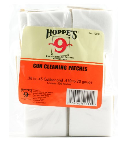 Details for Hoppes Gun Cleaning Patch For 38 - 45 Caliber 500 Pack Poly Bag by Hoppe's