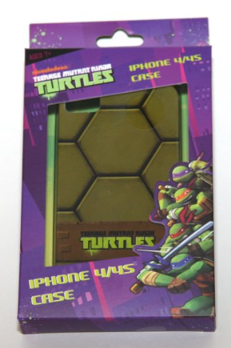 TEENAGE MUTANT NINJA TURTLES iPhone 4/4s TMNT Hard Green Shell Snap On Case