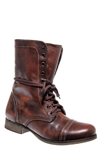 Troopa Mid-Calf Boot - Brown Leather