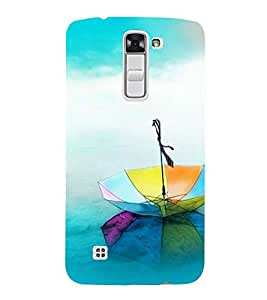 Vizagbeats rainbow umbrells Back Case Cover for LG K7