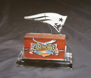 NFL New England Patriots Business Card Holder in Gift Box by Caseworks