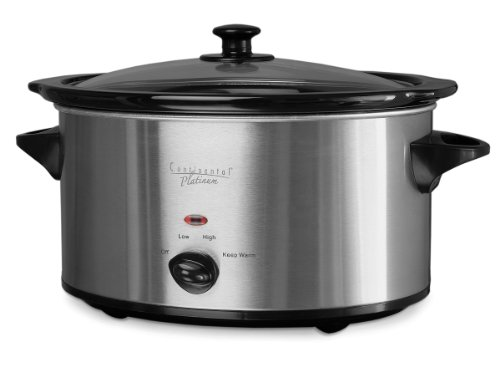 Continental Electric 4-Quart Stainless Steel Oval Slow Cooker