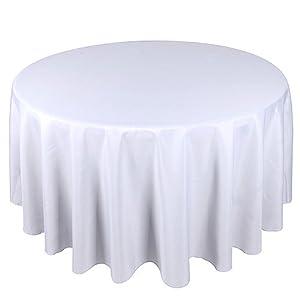 Amazoncom LA Linen Polyester Poplin Round Tablecloth