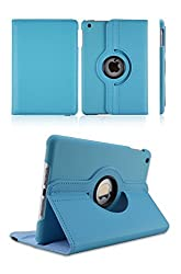 """TGKâ""""¢ 360 Degree Rotating Leather Smart Stand Case Cover for Apple iPad Air, Apple iPad 5, iPad Air 1 (Sky Blue)"""