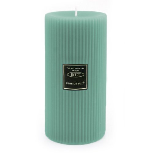 Root Candles Scented Grecian Pillar Candle, 3 by 6-Inch, Seaside Surf