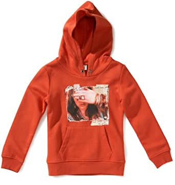 Tom Tailor - Sweat-Shirt - Fille - Orange (3196) - FR : 8 ans (Taille fabricant : 128)
