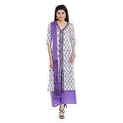 Pinkshink Pure Cotton White Salwar Kameez Dress Material Fabric 115