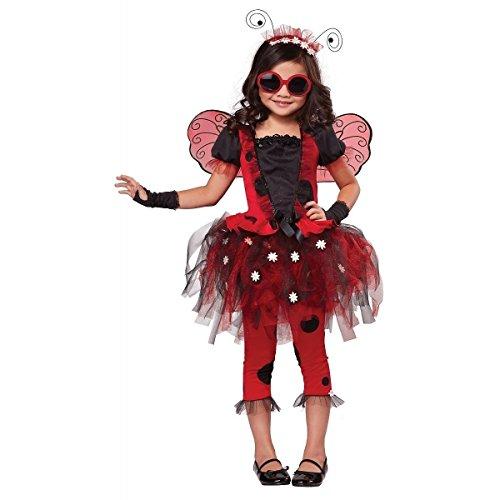 [GSG Lovely Lady Bug Costume Kids Halloween Fancy Dress] (Lovely Leopard Sexy Costumes)