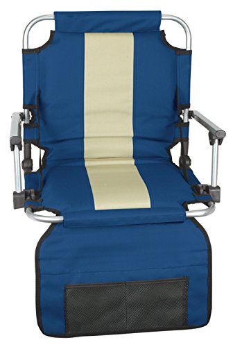 Stansport Folding Stadium Seat with Arms, Blue (19- X17- X5.5-Inch) (Folding Seat compare prices)