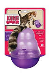 KONG Cat WOBBLER Purple Treat or Food Dispensing Toy For Cats Slows Eating (PW4)