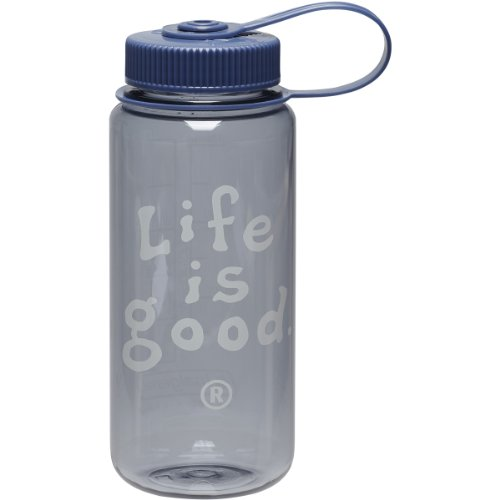 Life Is Good Stacked Lig Mini Water Bottle (Winter Gray), One Size front-1034978