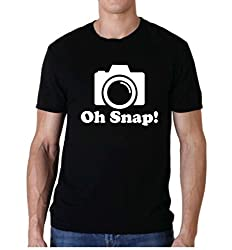 Snoogg Oh Snap ! Casual Slogan / 100% Cotton Funny Casual T shirts / Tee for Men