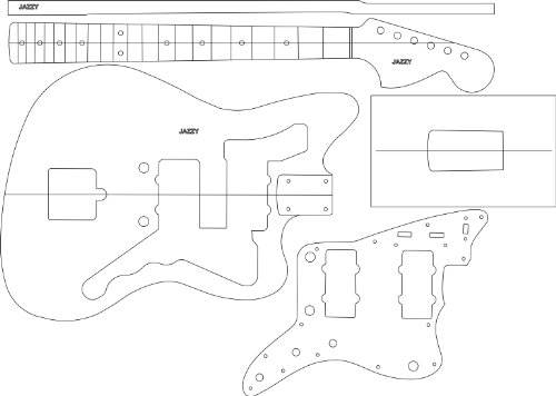 Electric Guitar Layout Template - Jazzy