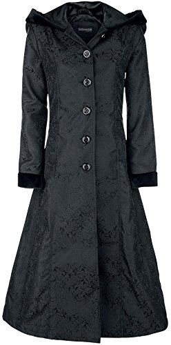 Gothicana by EMP Princess Brocade Coat Cappotto nero XXL
