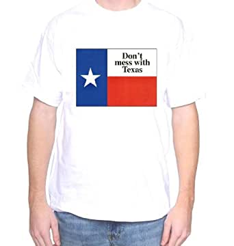 Mytshirtheaven Texas T-Shirt: Don't Mess With Texas (Flag) - small, white