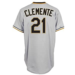 Roberto Clemente Pittsburgh Pirates Replica Cooperstown Jersey by Majestic by Majestic