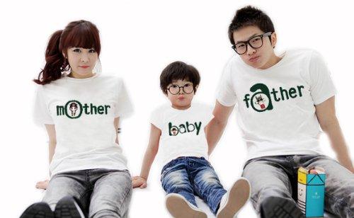 【Tシャツ】 半袖のファミリーTシャツ/半袖 お揃い 大人 子供 親子ペア ペアルック ファミリー 家族 ファッション おそろ (L, Girl)