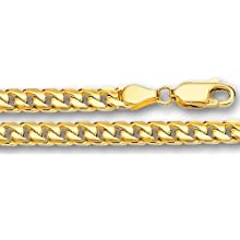 14K Yellow Gold Miami Cuban Link Chain (Width 4.4mm)