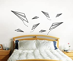 Amazon.com - Vinyl Wall Decal Sticker Paper Planes item OS_ES114 -