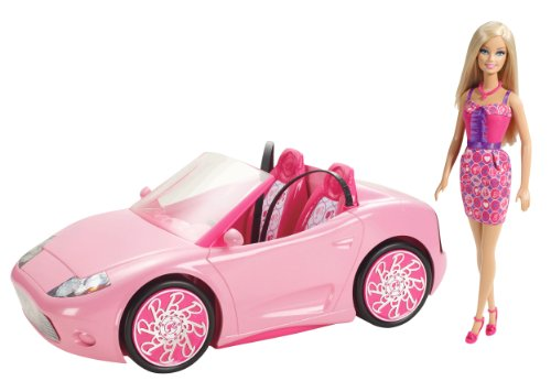 x mattel  barbie	glam convertible, with
