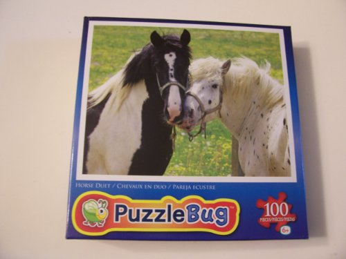 Puzzlebug 100 Piece Jigsaw Puzzle - Horse Duet - 1