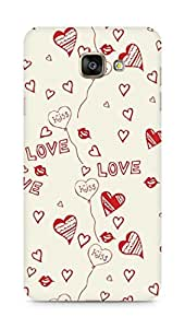 Amez designer printed 3d premium high quality back case cover for Samsung Galaxy A7 (2016 EDITION) (Love And Kiss)