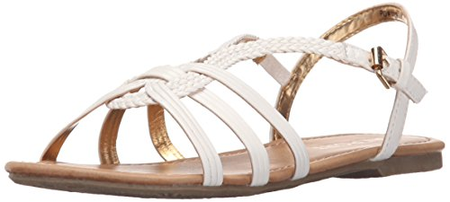Report Cutey Slingback Sandal (Little Kid/Big Kid), White, 5 M US Big Kid