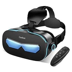Canbor VRゴーグル VRヘッドセット VRグラス 3Dメガネ 動画 ゲーム 映画 Bluetoothコントローラ付き