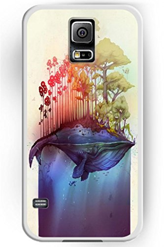 Sprawl Beautiful Vintage Design Hard Shell For Samsung Galaxy S5 Hard Plastic Back Case For Women -- Cartoon Trees On Whale