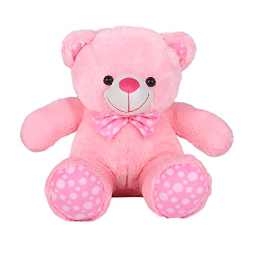 Kuddles-2-Feet-Fluffy-Polka-Teddy-Bear-Soft-Toys-by-Ultra-Pink