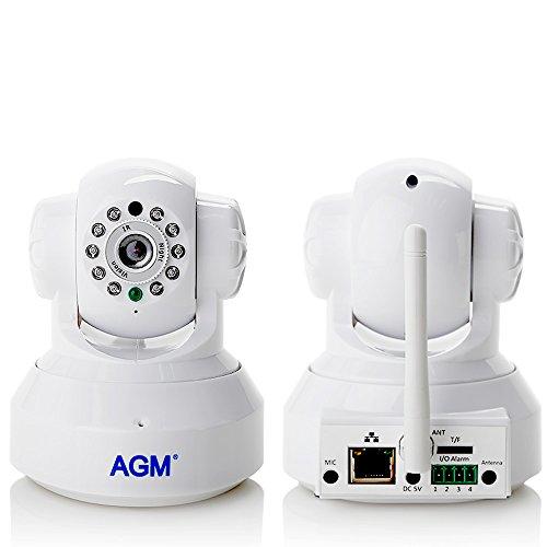 AGM HD 1280 IP wireless Pan/Tilt VideoKamera mit Zwei-Wege-AudioWlan Überwachungskamera Sicherheitskamera mit Wifi für Innenbereich und Außenbereich unterstützen SD Karte