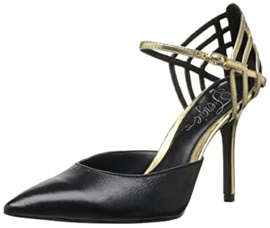 Fergie Women's Gardenia Dress Pump,Black/Gold,7 M US