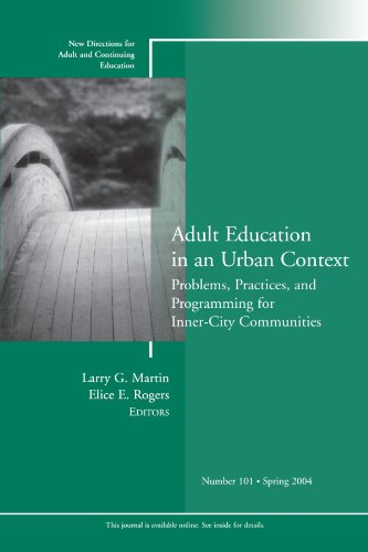 Adult Education in an Urban Context: Problems, Practices,...