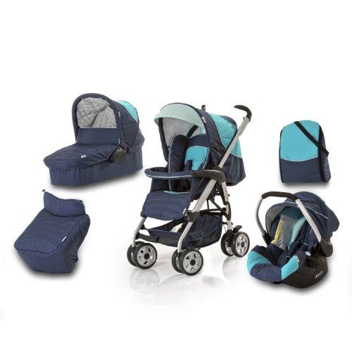 Imagen principal de Hauck Condor - Carrito convertible para bebé todo en uno, color azul marino