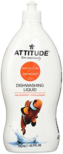Attitude Dishwashing Liquid Pink Grapefruit, 23.7 Fluid Ounce (Dishwashing Liquid Grapefruit compare prices)