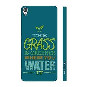 Enthopia Designer Hardshell Case Grren Grass Back Cover for Sony Xperia X