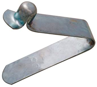 Use with tubing; .45-.87 (Round) and .42-.87 (Square), Single End - Spring Leg, Snap Button, Valco (1 Each)