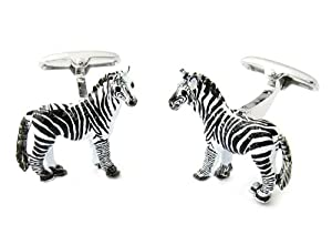 Zebra Cufflinks by Cuff-Daddy