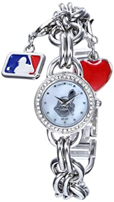 """Game Time Women's MLB-CHM-CLE """"Charm"""" Watch - Cleveland Indians"""