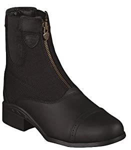 Ariat Women's Heritage Sport Paddock Waterproof Zip-Up Riding Boot Round Toe Black 8.5 M US