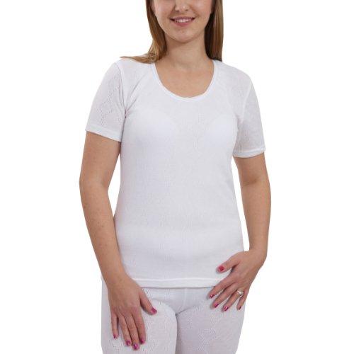 Ladies Women Thermal Warm Short Sleeve Tshirt Vest Underwear