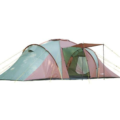 Skandika-Daytona-XXL-Familien-Zelt-fr-6-Personen-wasserdicht-durch-starke-3000-mm-Wassersule-Groes-gerumiges-und-robustes-Outdoor-Camping-Zelt-mit-3-Schlaf-Kabinen-Insekten-Netzen-und-ber-2-m-Stehhhe