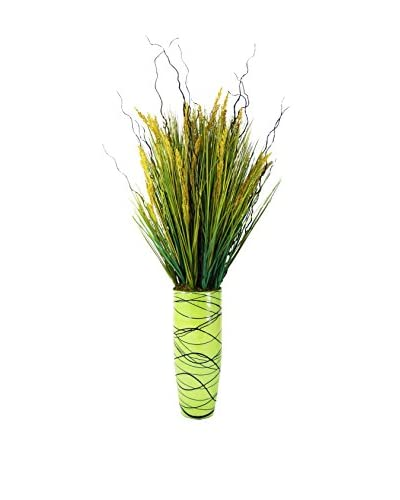 Creative Displays Dune Grass & Curly Willow Vase, Green/Multi