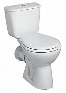 Ceravid MrClever WC Tiefspüler Kombination bodenstend, Standmodell Abgang waagerecht im Set, Ceravid C07430000   Kritiken und weitere Informationen