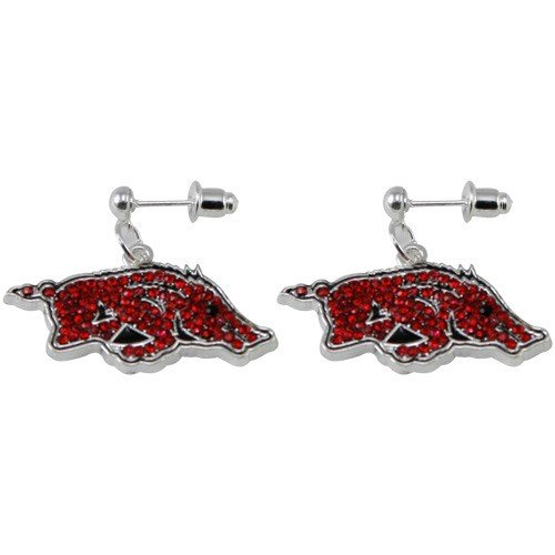 NCAA Arkansas Razorbacks Rhinestone Logo Dangle Earrings at Amazon.com