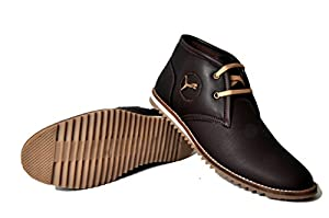 West Code Men's Brown Synthetic Leather Casual Shoes
