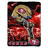 San Francisco 49ers 60×80 Royal Plush Raschel Throw Blanket – Sky Helmet Style by Northwest