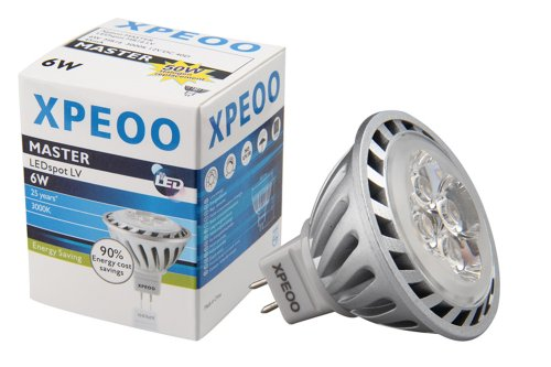 Xpeoo® 6W Mr16 Gu5.3 Led Bulbs, High Power, Replace 50W Halogen Bulb, 520Lm, Warm White, Perfect Standard Size, Energy Saving, Spot Light Downlight, Effect Of Philips, Ac 12V For Non-Dimmable, Dc 12V For Dimmable, Pack Of 2 Units (Mr16 6W=50W Warm White)