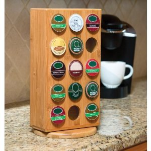 Bamboo K Cup Revolving Storage Block
