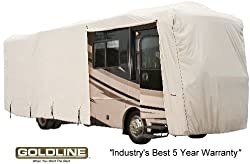 Goldline Premium Long Life RV Cover for Class A Motor Home 34-36 Foot, Grey